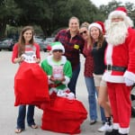 Santa with his Elf and team members from Laser Locators prepare to bring the gifts. 150x150 Potter Elementary School