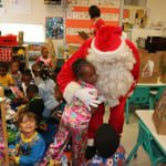 Theres nothing like getting a hug from Santa before Christmas. 150x150 Potter Elementary School