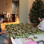 We needed at least one camo blanket to make the whole lot complete. 150x150 Hands Across the Bay